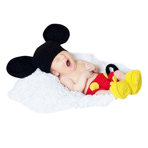 Babymoon Decut Baby Micky Mouse Hat, Shorts & Booties