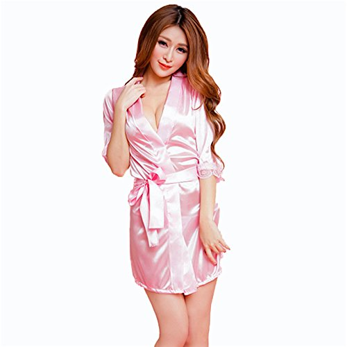 Bomshel Women\'s Dressing Gowns & Kimono(Pink,Free Size) - Homebag.in