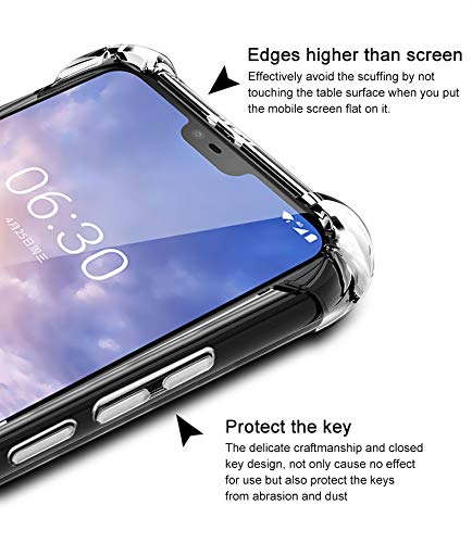 wholesale dealer eafbc fe547 Tarkan Nokia 6.1 Plus Case - Shock Proof Protective Soft Transparent Back  Cover for Nokia 6 Plus [Bumper Corners with Air Cushion Technology] Crystal  ...